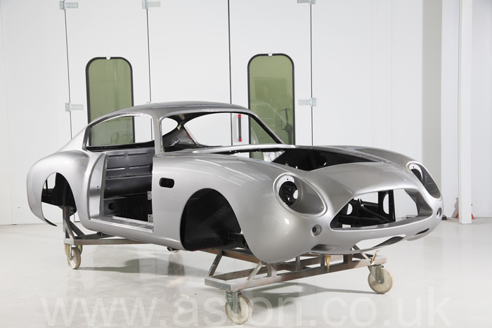 An Aston Martin Restoration in progress